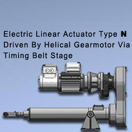 "Acme Screw Type - ""N"" (Driven By Helical Gearmotor Via Timing Belt Stage) Acme screw selection Chart"